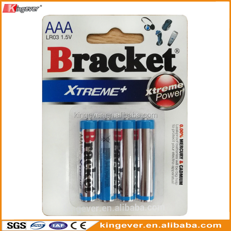 Non rechargeable 1.5V AAA AM-4 LR03 alkaline battery