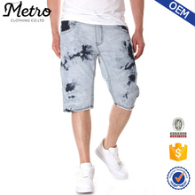 Wholesale Mens Loose Acid Washed Denim Shorts
