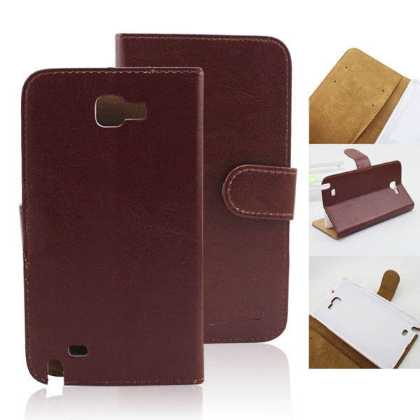 wallet leather cases covers for samsung galaxy note i9220 gt-n700