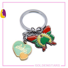 2015 Top hot sales summer style beautiful Butterfly Design Metal Keychain personalized Promotion