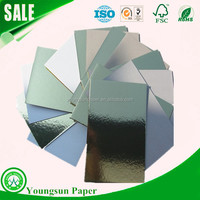 cake cardboard sheet laminated gold and silver color cake boards wholesale
