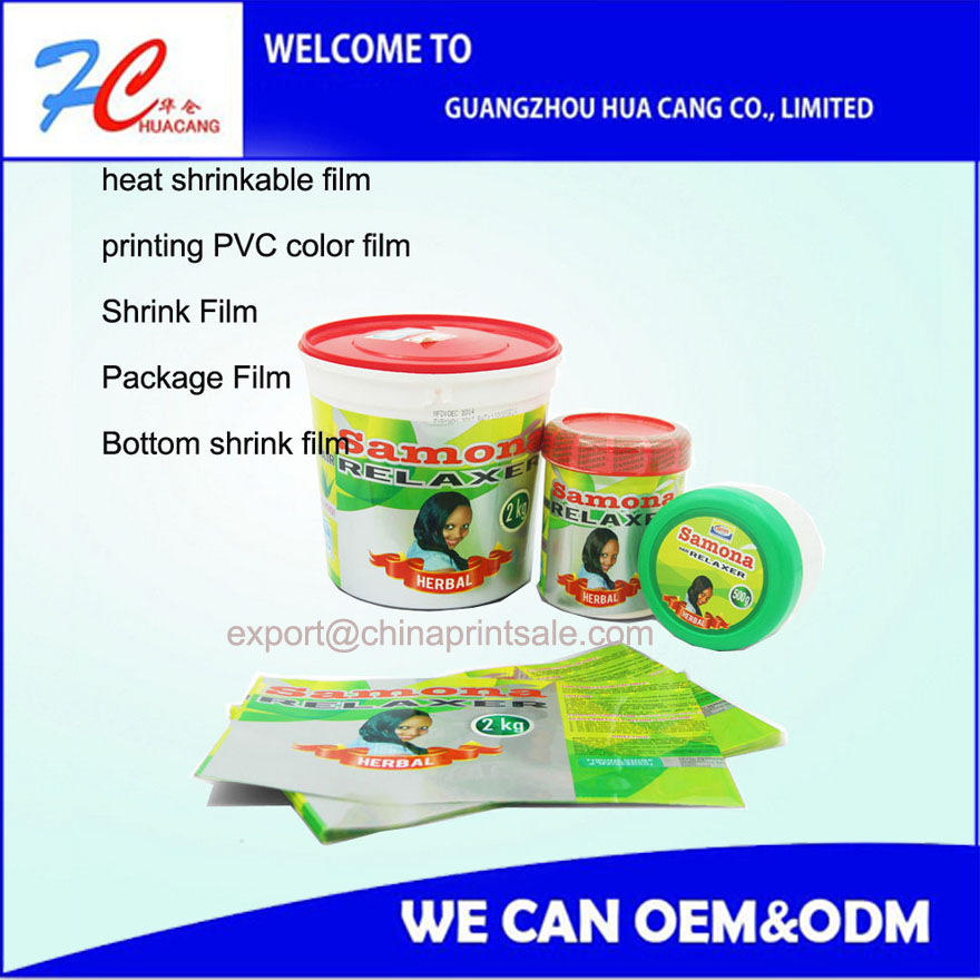 PVC printing shrink film roll plastic bottom film stretch