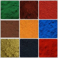 red oxide color 130 190 and yellow iron oxide 313 for making paint/ceramica tiles/concrete coloring
