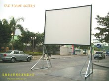 Quick fold screen with foldable aluminum frames and legs