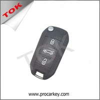 PEUGEOT 508 BUTTON FLIP AUTO REMOTE FOLDABLE BLADE CAR KEY SHELL CAR KEY BLANK COVER
