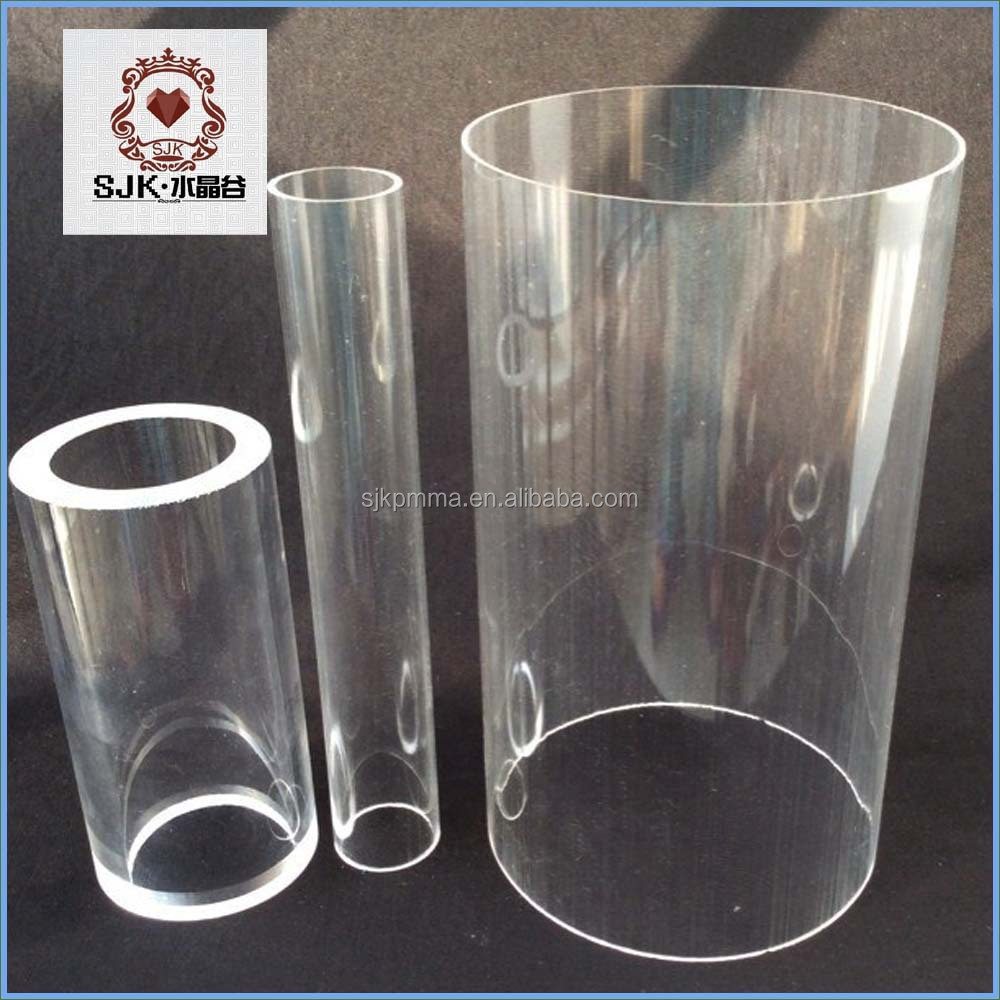 Thin Glass Tubing , Clear Transparent Acrylic Tube 2M length