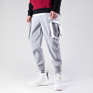 2019 Custom High Quality Cotton Blend Blank Loose 6 Pocket Cargo Jogger Pants For Men