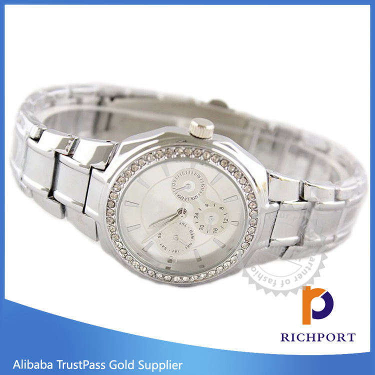 Wholesale WristWatch Womens Stainless Steel Watch with 3ATM Water Resistant