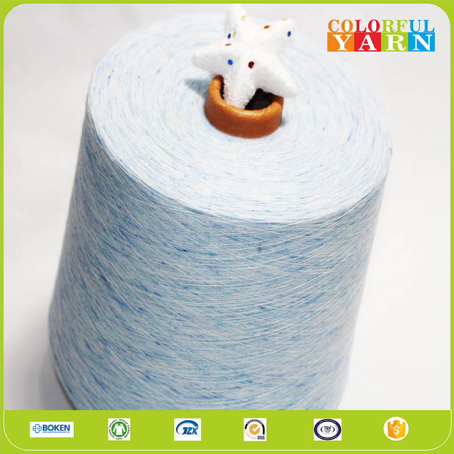 beautiful color 100 cotton melange yarn