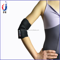 2016 high quality TV hot sale Black self-heating magnetic elbow brace