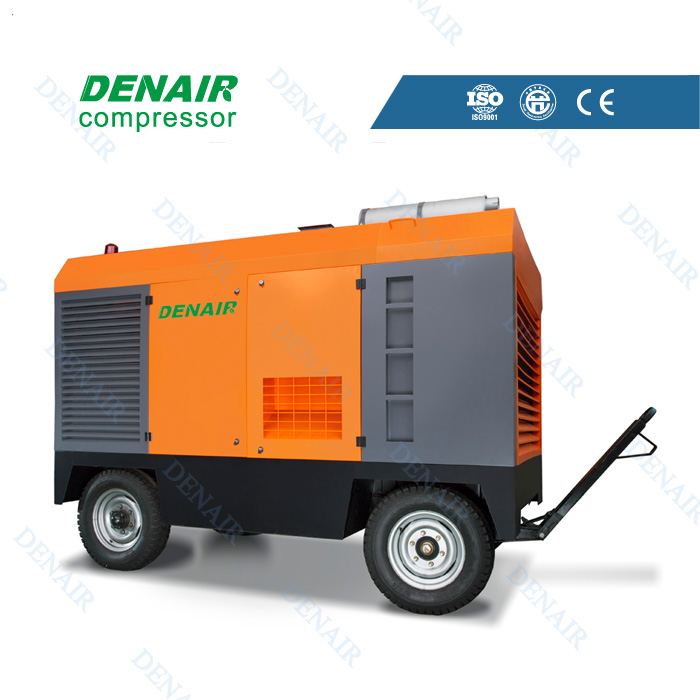 low noise Dieselair compressor ,portable air compressor water well drilling rig