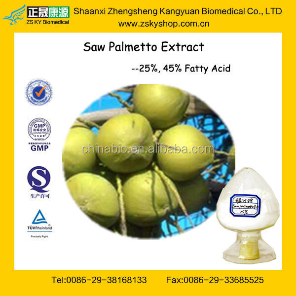 GMP Factory Supply High Quality Saw Palmetto Extract Powder
