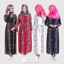 2016 autumn latest design muslim dress