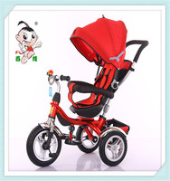 2016 popular hot sale 4 in 1 tricycle for children with rotary wheel for 1-4years old