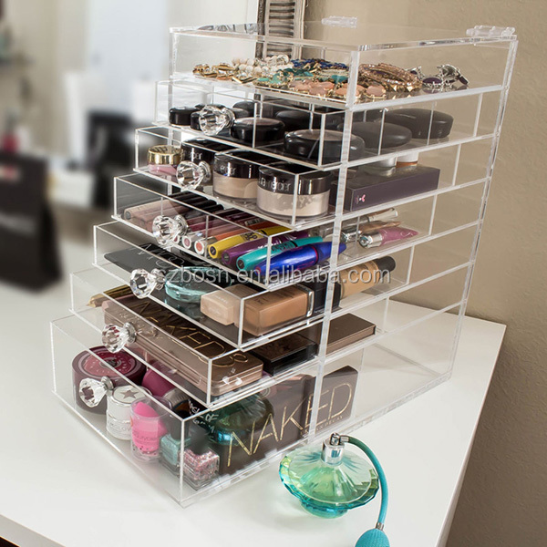 5 Drawer Clear Acrylic Makeup Organizer