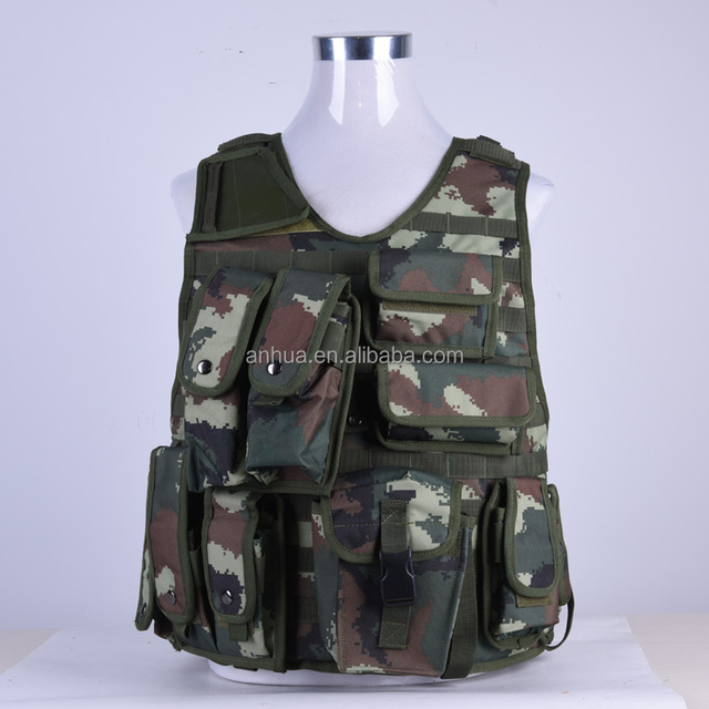 Customized Military Army Digital Woodland Camouflage Tactical Vest