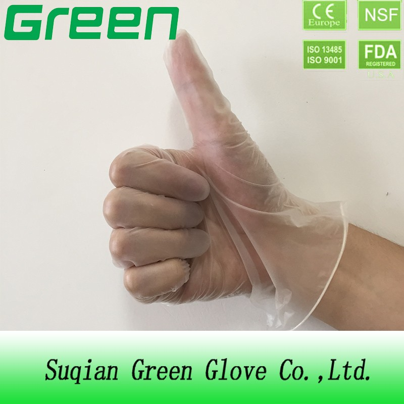 Food processing disposable vinyl gloves