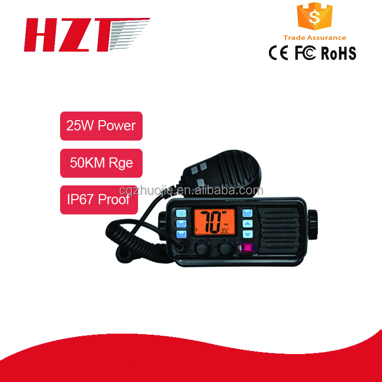 Vhf water proof mobile radio IP67 standard 25watts for offshore operation