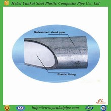 Environmentally Plastic Lined Hot Dip Galvanized Steel Pipes for Water Supply