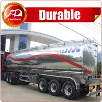 Stainless aluminum steel big capacity fuel trailer oil tanker for sale