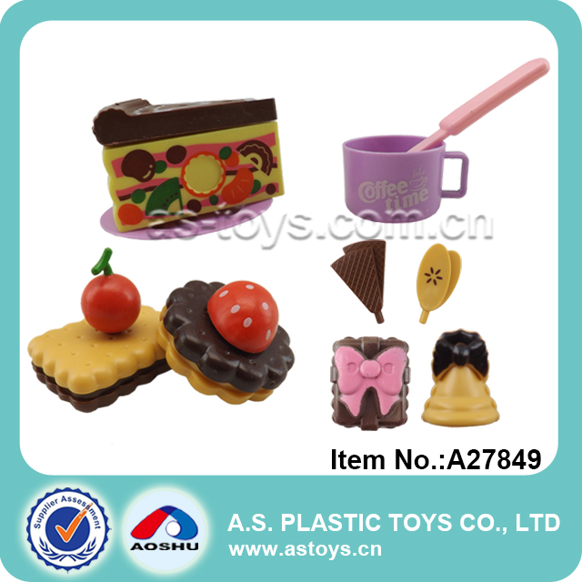 Happy funny play children plastic mini cute sweet cake kitchen toys