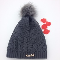 Crochet bobble women knitted winter hats