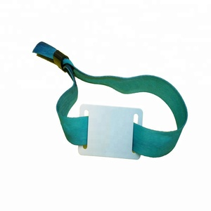 13.56MHz NXP MIFARE Ultralight C rfid woven wristband for ticket