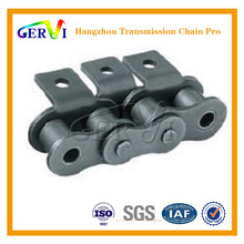 B series 20B-1 roller chain with attachments