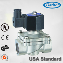 Max 1.0Mpa pressure 2 way stainless steel solenoid valve
