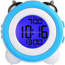 Digital Dual Alarm Large Display With Snooze And Night Light Twin Bell Kids Small Clock