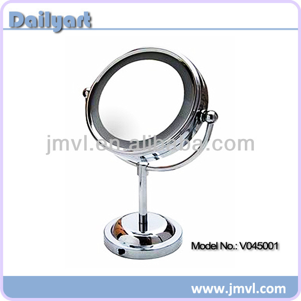 6 Inch LED Double Vision Desktop Round Magnifying Cosmetic Mirror