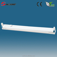 t8 2ft batten t8 fluorescent light fitting, Staggered Strip Light Fixture