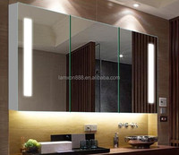 Large size wall hanging bathroom vanity mirror cabinets with LED light