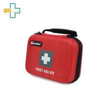 List of items in a first aid kit hard case for emergency survival