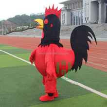 HI CE hottest new year 2017 adult plush animal rooster costume for sale