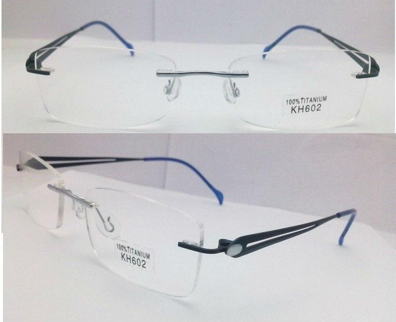 2014 bajo precio clásica sin montura de titanio gafas para los ...