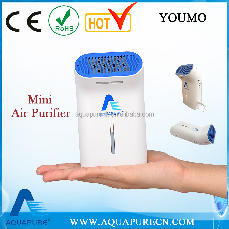Battery or USB powered Mini Ozone Air Purifier for car and home use