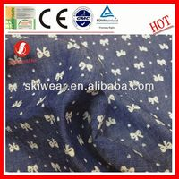wholesale various wicking 100% cotton denim jeans fabric for supplier