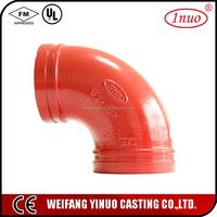 90 degree elbow silicon rubber hose with fm ul listed for fire fighting industry
