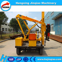 Hydraulic rotary piling rig guardrail post extraction pile driver machine