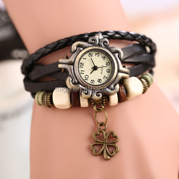 Fashion Lady Bracelet Wristwatches Lady Genuie Leather Wristwatches (<strong>W003</strong>)
