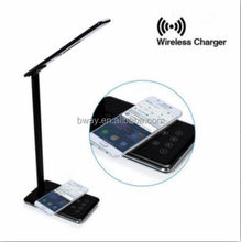 Hot wireless charging light phone wireless charger led desk lamp green power solar led light