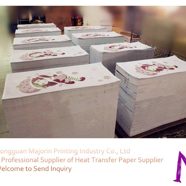 Majorin heat transfer paper sublimation transfer printing paper for jersey lycra clothes or garment