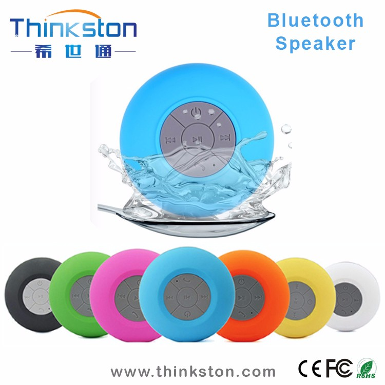 mini IPX4 waterproof shower bluetooth speaker with sucker