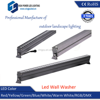 High quality 36W dimmable (dimming) led wall washer, RGBW wall washer light IP66