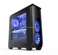 Game computer case black desktop pc assembling computers host special computer case