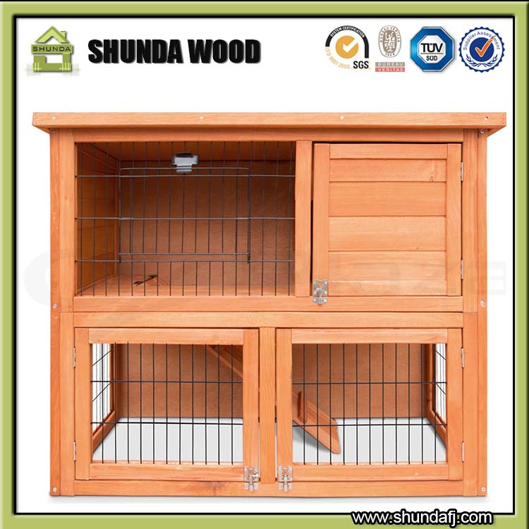 SDR001 Cheap Wooden Ferret Cages Rabbit Cages Hamster Cages Wholesale