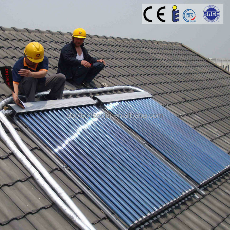 Series and Parallel Connected Solar Thermal Collectors for Solar Hot Water Heating Project