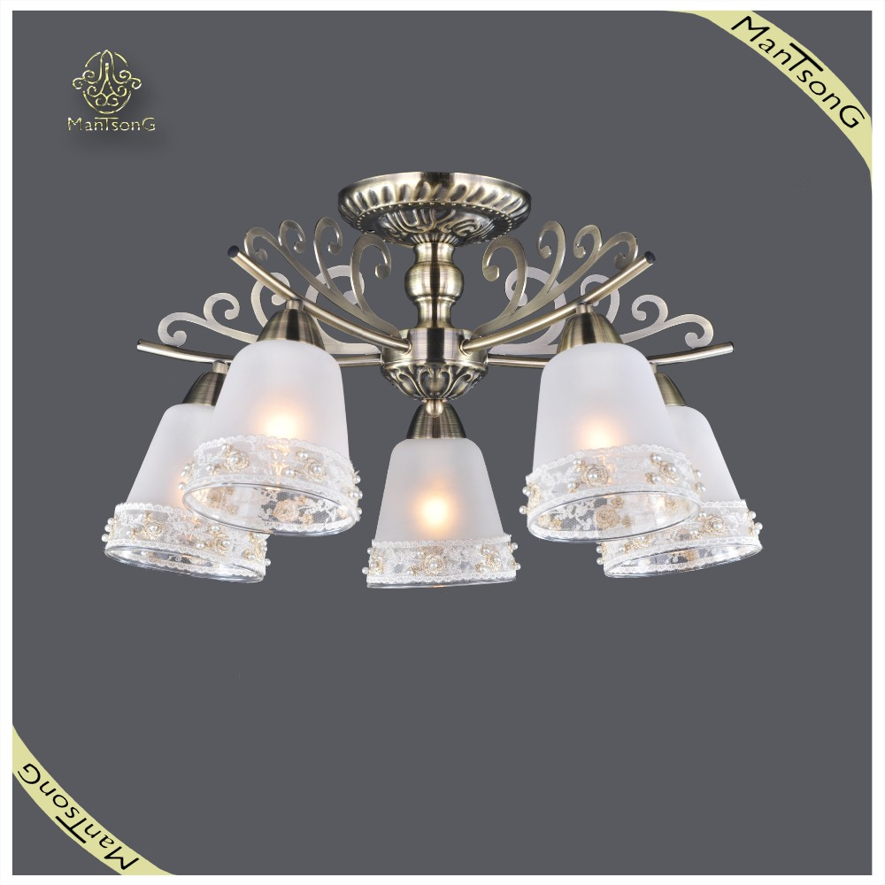 Russian Style Classic Ceiling Lamp Glass Lampshade, Fancy Design Ceiling Lamp