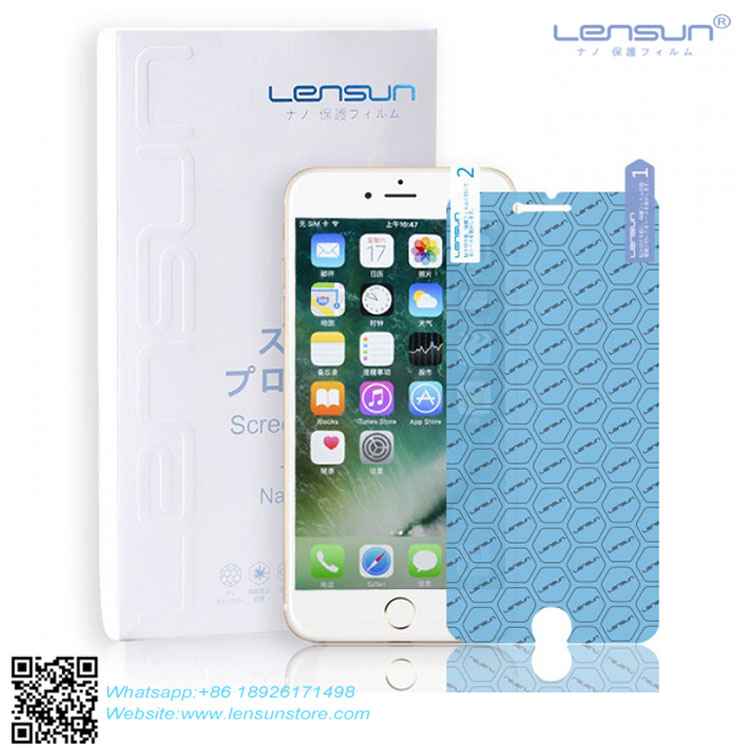 LENSUN Soft Explosion-proof Anti-Glare Shatterproof High Clear Nano Screen Protective Film For Mobile Phone